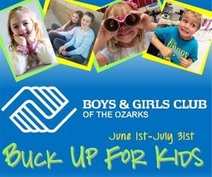Buck Up for Kids – June 1- July 31st