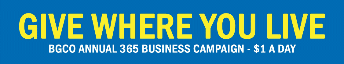 Give Where You Live! BGCO Annual 365 Business Campaign - $1 A Day